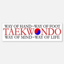 Tae Kwon Do Philosophy Bumper Bumper Sticker