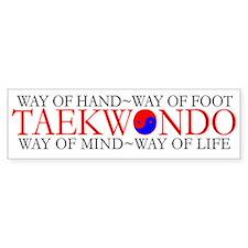 Tae Kwon Do Philosophy Bumper Sticker