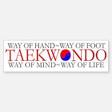 Tae Kwon Do Philosophy Sticker (Bumper)
