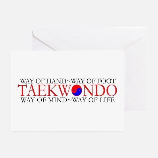 Tae Kwon Do Philosophy Greeting Cards (Pk of 10)