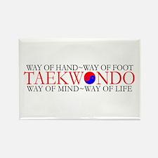 Tae Kwon Do Philosophy Rectangle Magnet