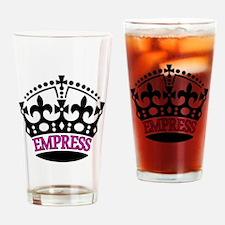 EMPRESS Pink Drinking Glass