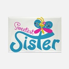 Sweetest Sister Rectangle Magnet