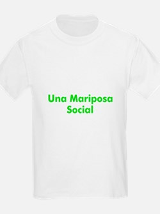 Una Mariposa Social Kids T-Shirt