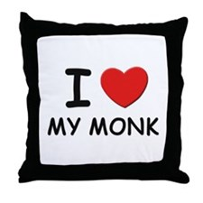I love monks Throw Pillow