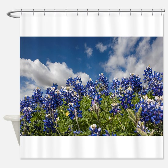 Texas Bluebonnets - 4217 Shower Curtain