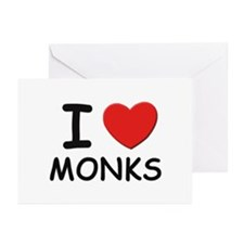 I love monks Greeting Cards (Pk of 10)