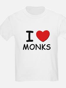 I love monks Kids T-Shirt