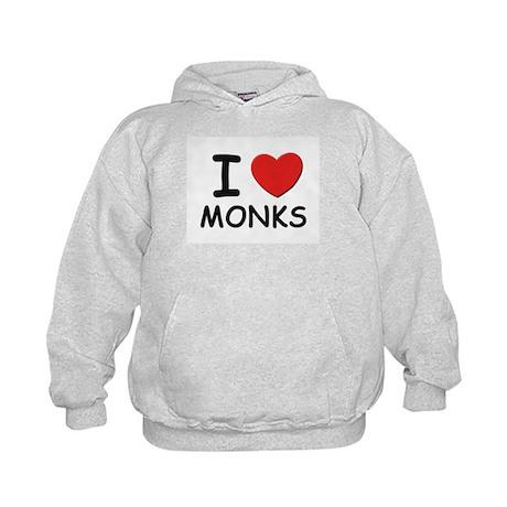 I love monks Kids Hoodie