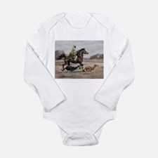 Bedouin Riding with Saluki Hounds Body Suit