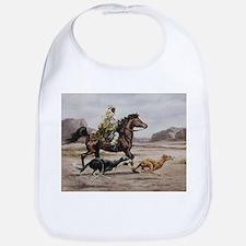 Bedouin Riding with Saluki Hounds Bib