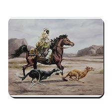 Bedouin Riding with Saluki Hounds Mousepad