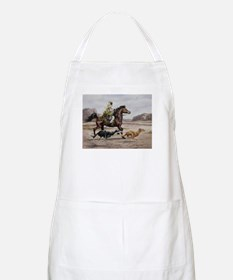 Bedouin Riding with Saluki Hounds Apron