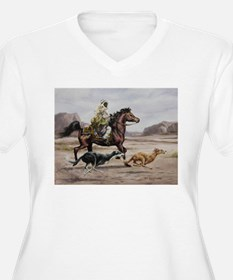 Bedouin Riding with Saluki Hounds Plus Size T-Shir