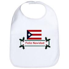 PuertoRico Feliz Navidad Bib