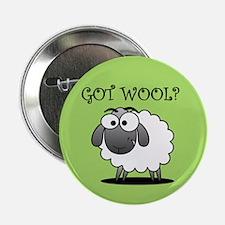 """GOT WOOL? 2.25"""" Button (10 pack)"""