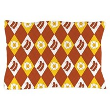 Bacon and Eggs Argyle Pattern Pillow Case