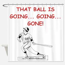 BASEBALL1 Shower Curtain