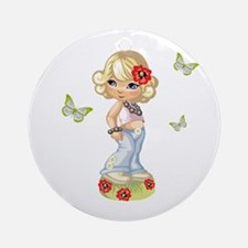 I Have Butterflies! Ornament (Round)
