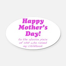 Happy Mothers Day... Oval Car Magnet