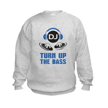 DJ and headphones Turn up the BASS design Sweatshi
