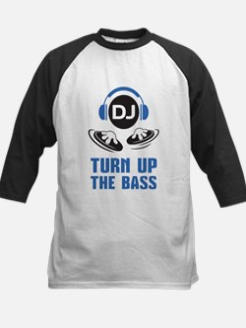 DJ and headphones Turn up the BASS design Baseball