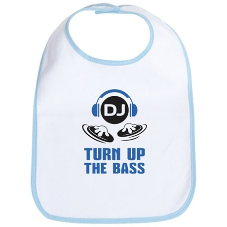 DJ and headphones Turn up the BASS design Bib