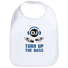 DJ and headphones Turn up the BASS design Bib
