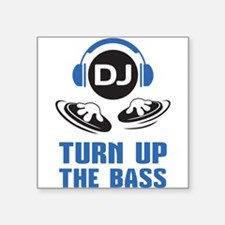 DJ and headphones Turn up the BASS design Sticker