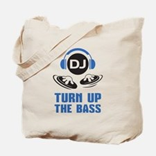 DJ and headphones Turn up the BASS design Tote Bag
