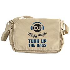 DJ and headphones Turn up the BASS design Messenge