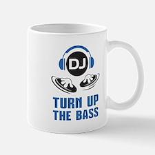DJ and headphones Turn up the BASS design Mug
