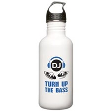 DJ and headphones Turn up the BASS design Water Bo