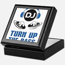DJ and headphones Turn up the BASS design Keepsake