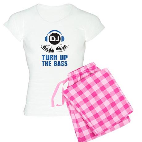 DJ and headphones Turn up the BASS design Pajamas