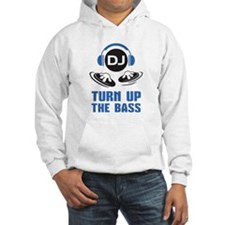 DJ and headphones Turn up the BASS design Hoodie