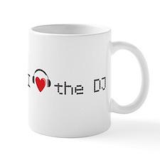 I love the DJ with headphones and heart design Mug