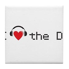 I love the DJ with headphones and heart design Til