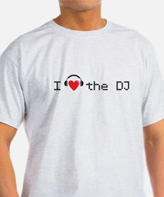 I love the DJ with headphones and heart design T-S