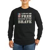 Land of the free Long Sleeve T-shirts (Dark)
