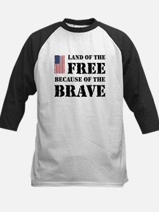 Land of the Free Kids Baseball Jersey
