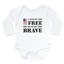 Land of the Free Long Sleeve Infant Bodysuit