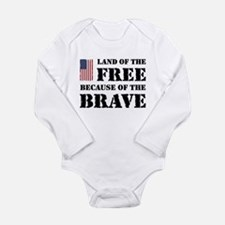 Land of the Free Long Sleeve Infant Bodysuit