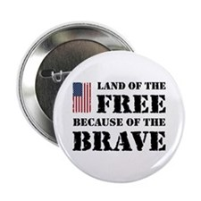 """Land of the Free 2.25"""" Button"""