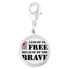 Land of the Free Silver Round Charm