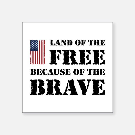 """Land of the Free Square Sticker 3"""" x 3"""""""