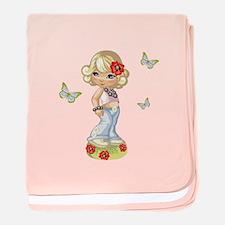 I Have Butterflies! baby blanket
