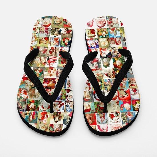 Many Many Santas Flip Flops