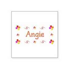 "Angie 1 Square Sticker 3"" x 3"""