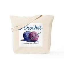 icrochetballs.JPG Tote Bag